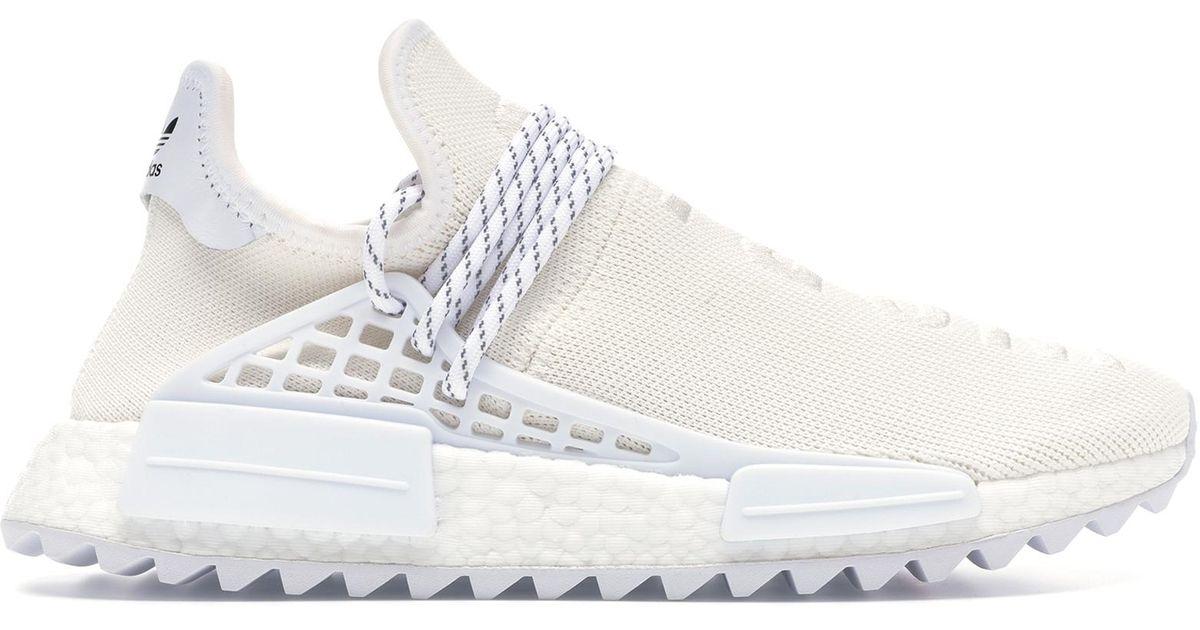 best sneakers 89c1b 1b30c Adidas White Human Race Nmd Pharrell Blank Canvas for men