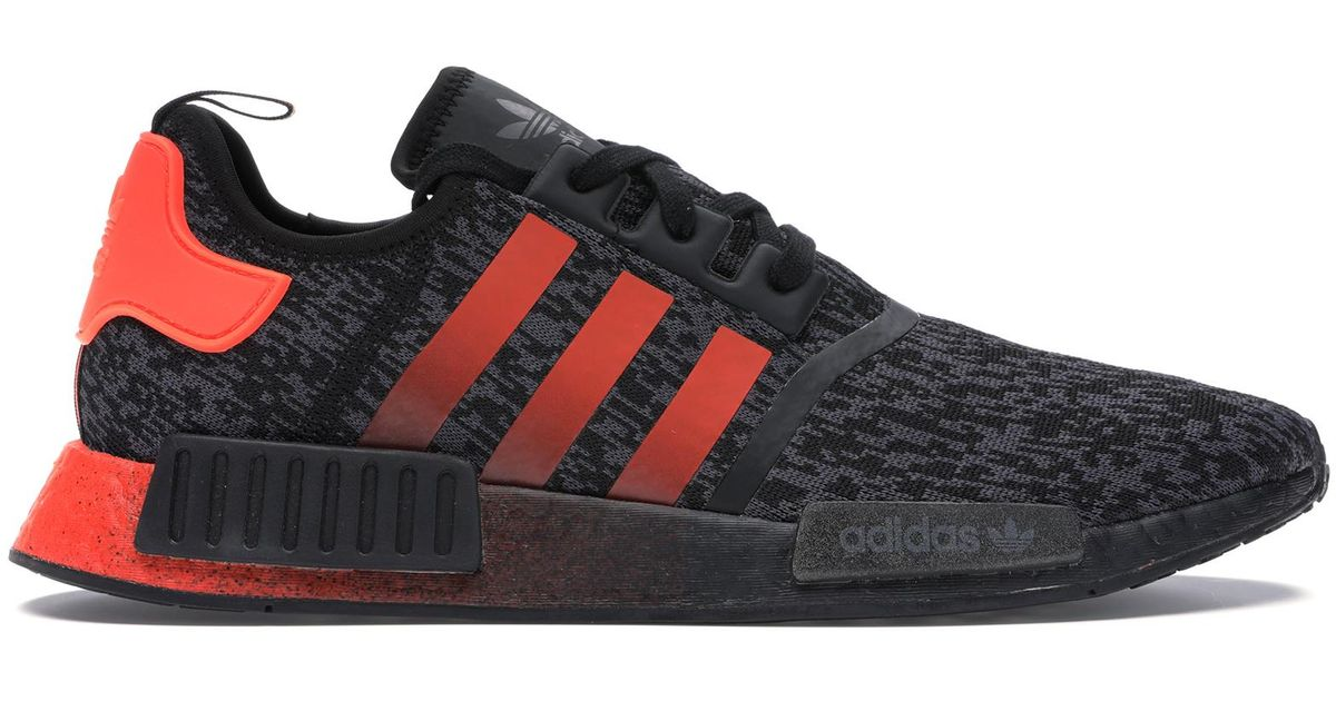Adidas Nmd R1 Solar Red Core Black For Men Lyst