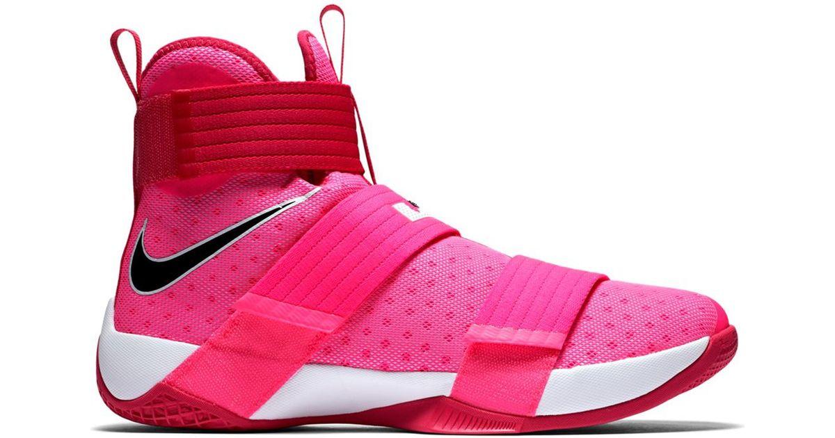 separation shoes 8c559 42d00 Nike Lebron Zoom Soldier 10 Think Pink for men
