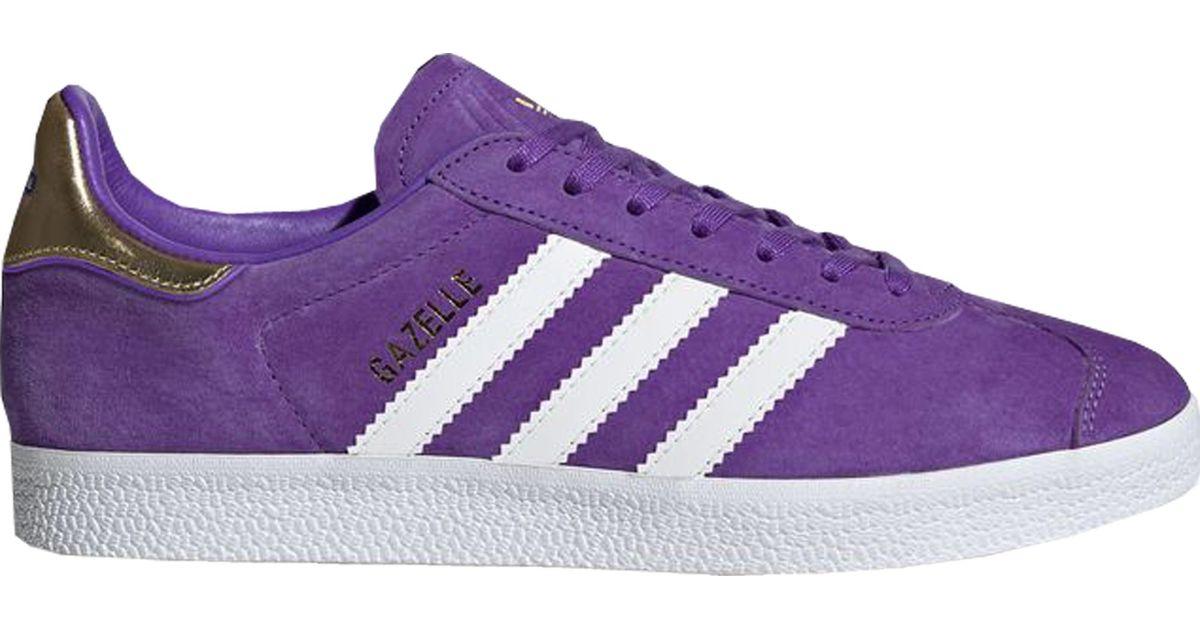 adidas Originals TFL Gazelle sneakers in purple and white | ASOS