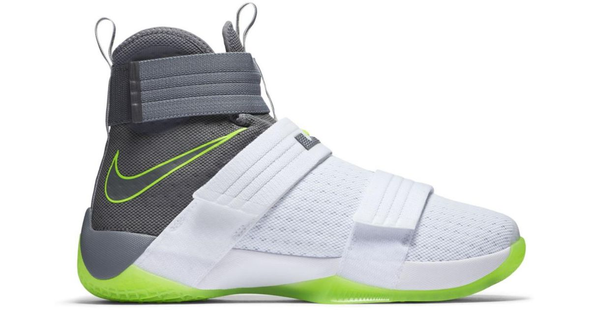 brand new 91096 dd7cd Nike White Lebron Zoom Soldier 10 Dunkman for men