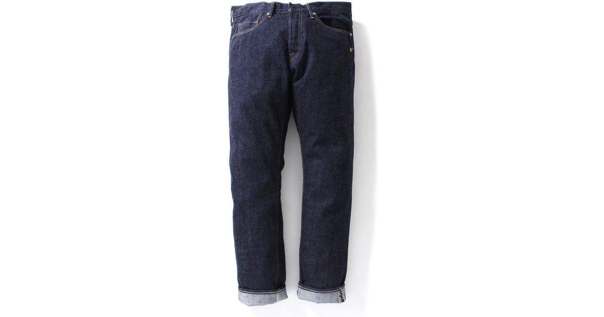 1d3f2dbd22cc Lyst - A Bathing Ape 1999 Type-02 Denim Pants Pants Indigo in Blue for Men