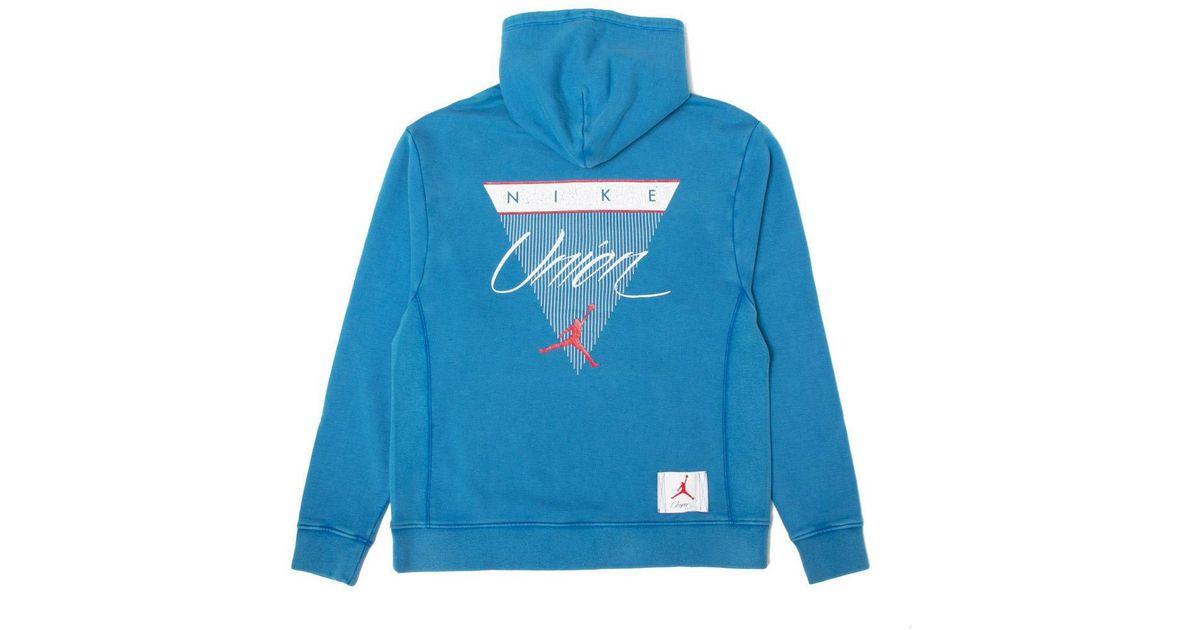 ae0023fa0d3 Nike X Union Nrg Vault Aj Flight Hoodie Blue in Blue for Men - Lyst