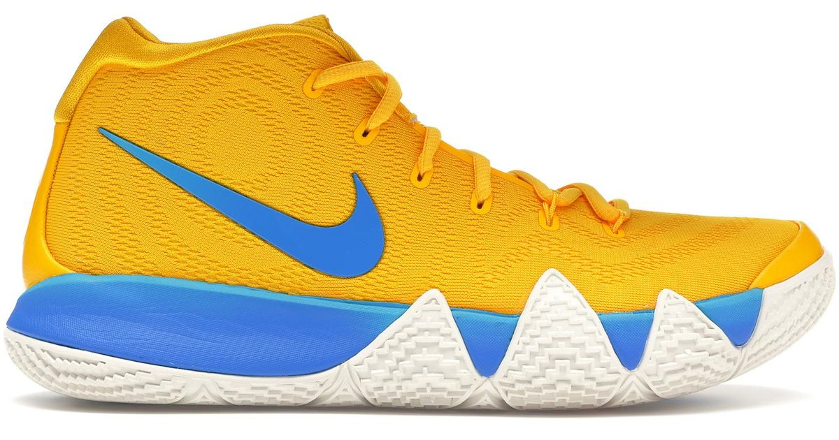 reputable site 0274c b22a7 Nike Yellow Kyrie 4 'kix' for men