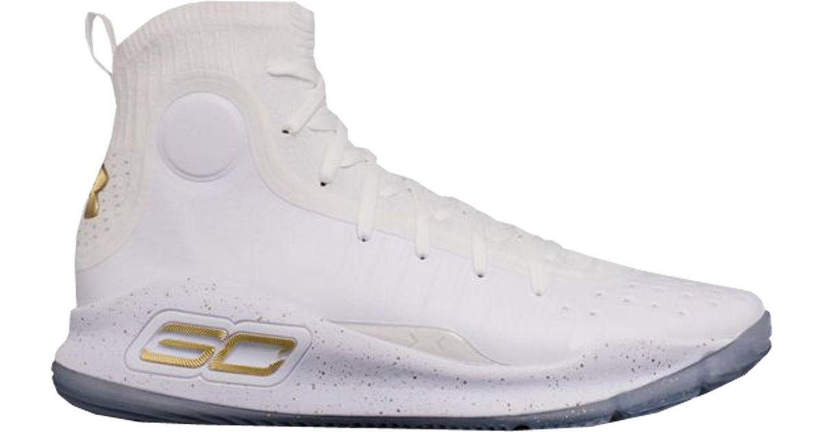 Under Armour Curry 4 White Gold for Men