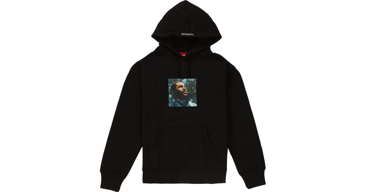 e3153209 Supreme Marvin Gaye Hooded Sweatshirt Black in Black for Men - Lyst