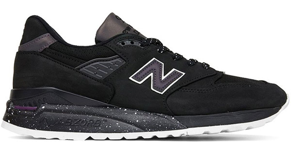 new styles e213b 1c548 New Balance Black 998 Northern Lights for men