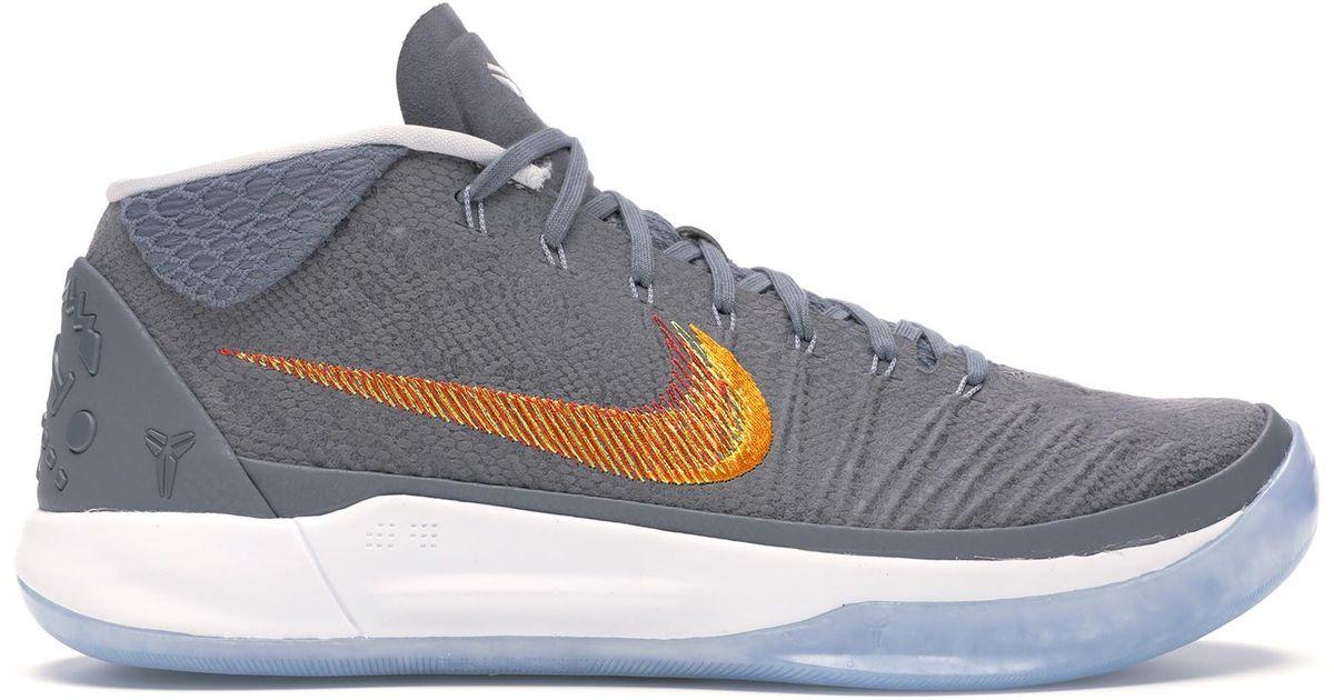 Nike Kobe A.d. Grey Snake in Gray for