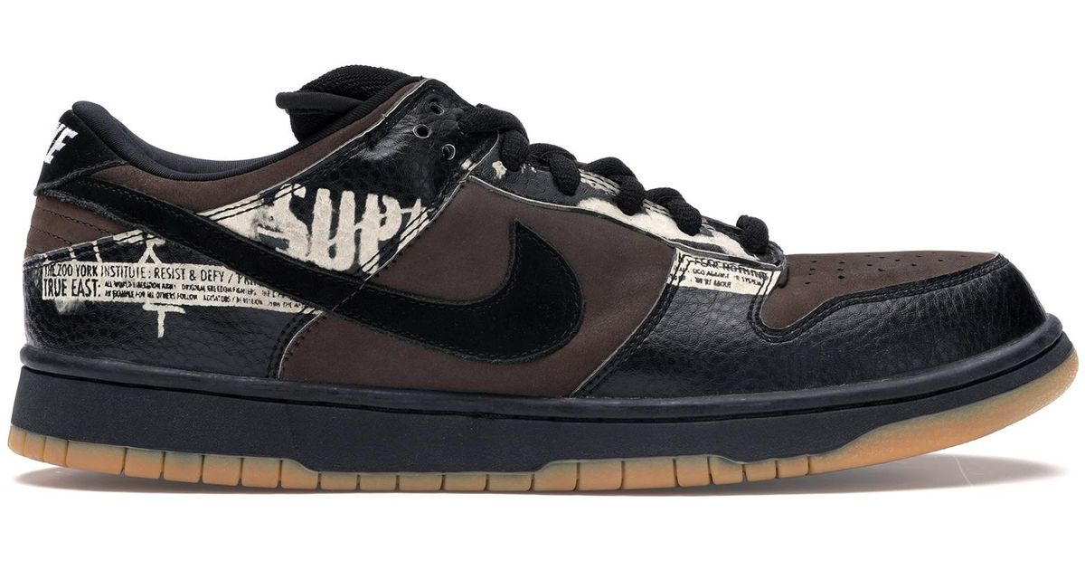 Nike Dunk Sb Low Zoo York in Black for