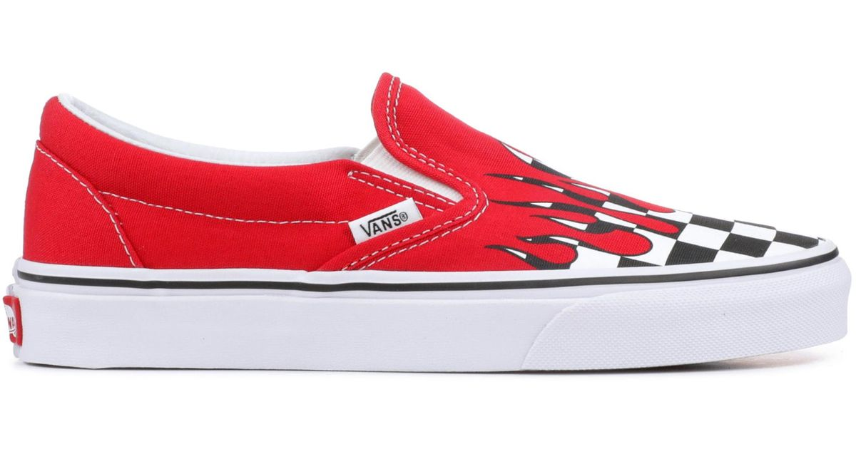 Vans Slip-on Checkerboard Flame Red for