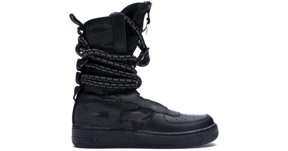 Nike Sf Air Force 1 High Black Dark