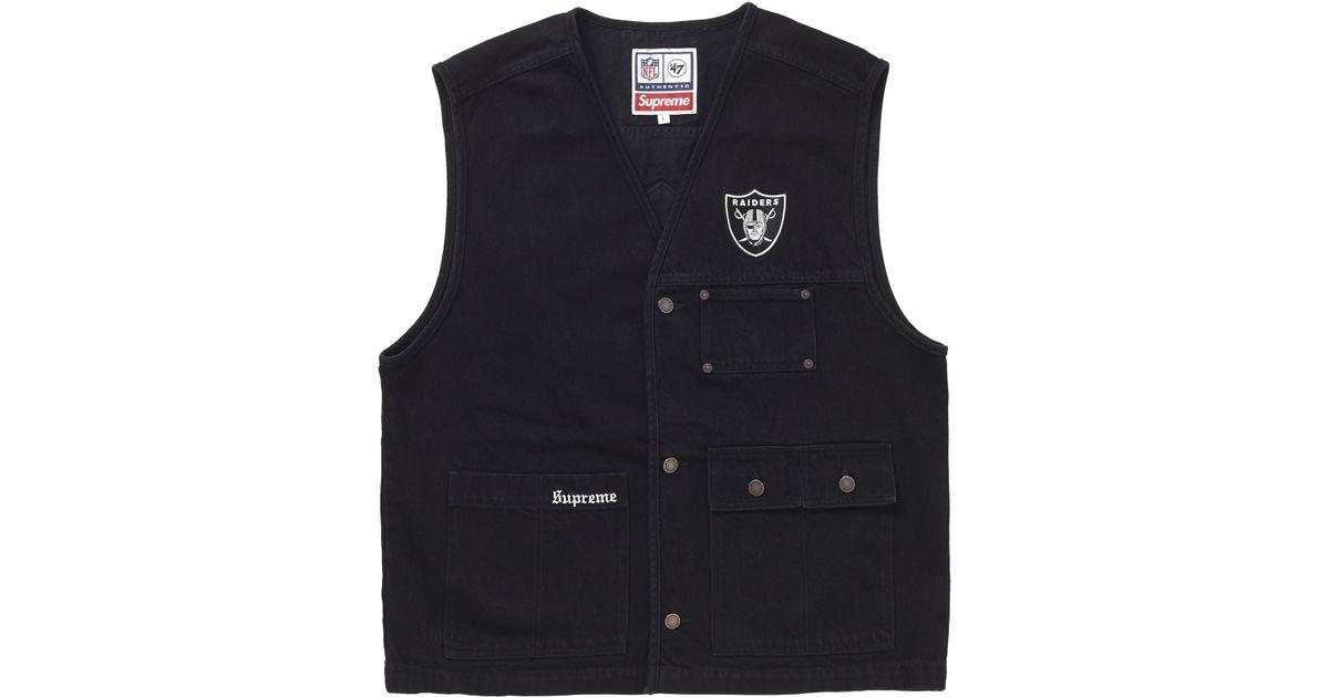 93d0be1f1 Supreme Nfl X Raiders X '47 Denim Vest Black for men