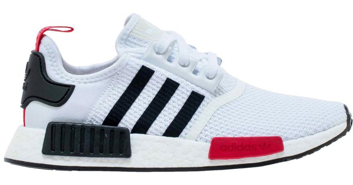 Adidas Nmd R1 White Black Red For Men Lyst