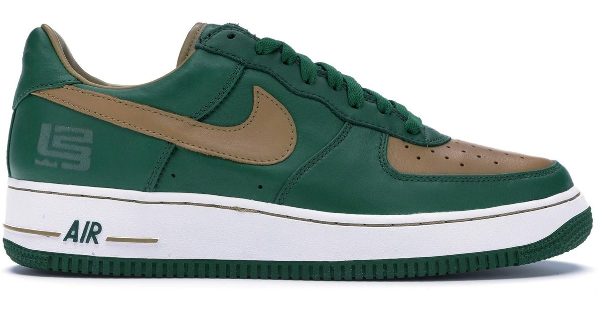 hot sale online 0df04 e51c9 Nike Green Air Force 1 Low Lebron Svsm for men