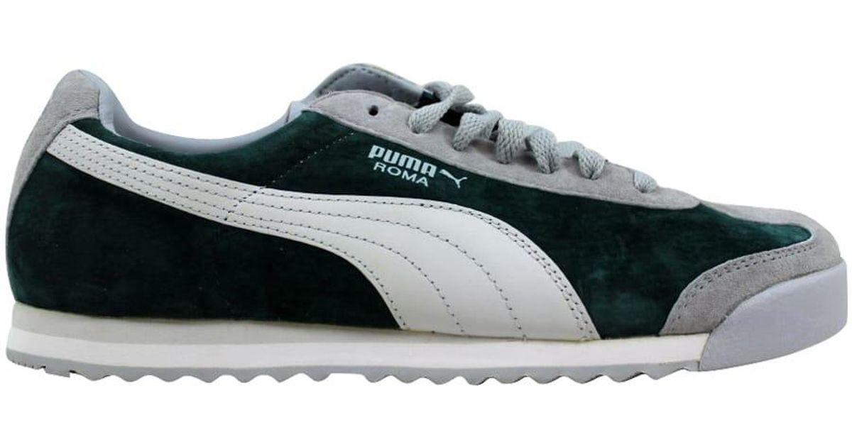 PUMA Roma Pigskin Dark Green for Men - Lyst