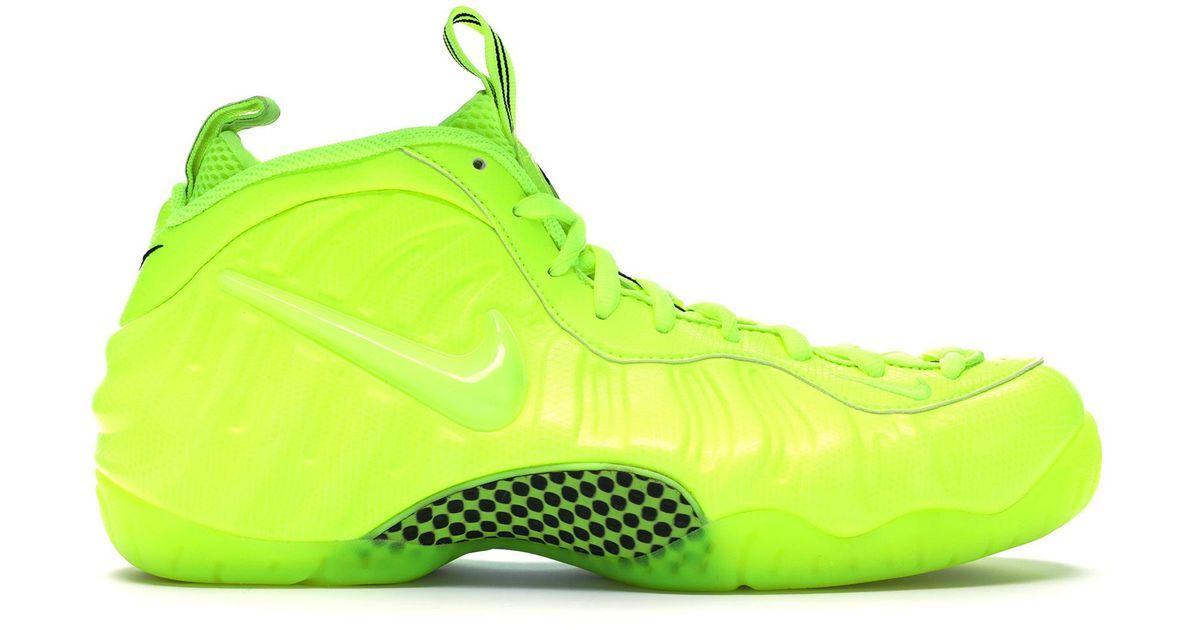 on sale 7b77d 8b32c Nike Yellow Air Foamposite Pro Volt for men