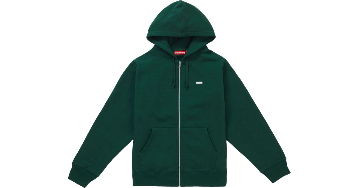 3d0a56f00840 Lyst - Supreme Reflective Small Box Zip Up Sweatshirt Dark Green in Green  for Men