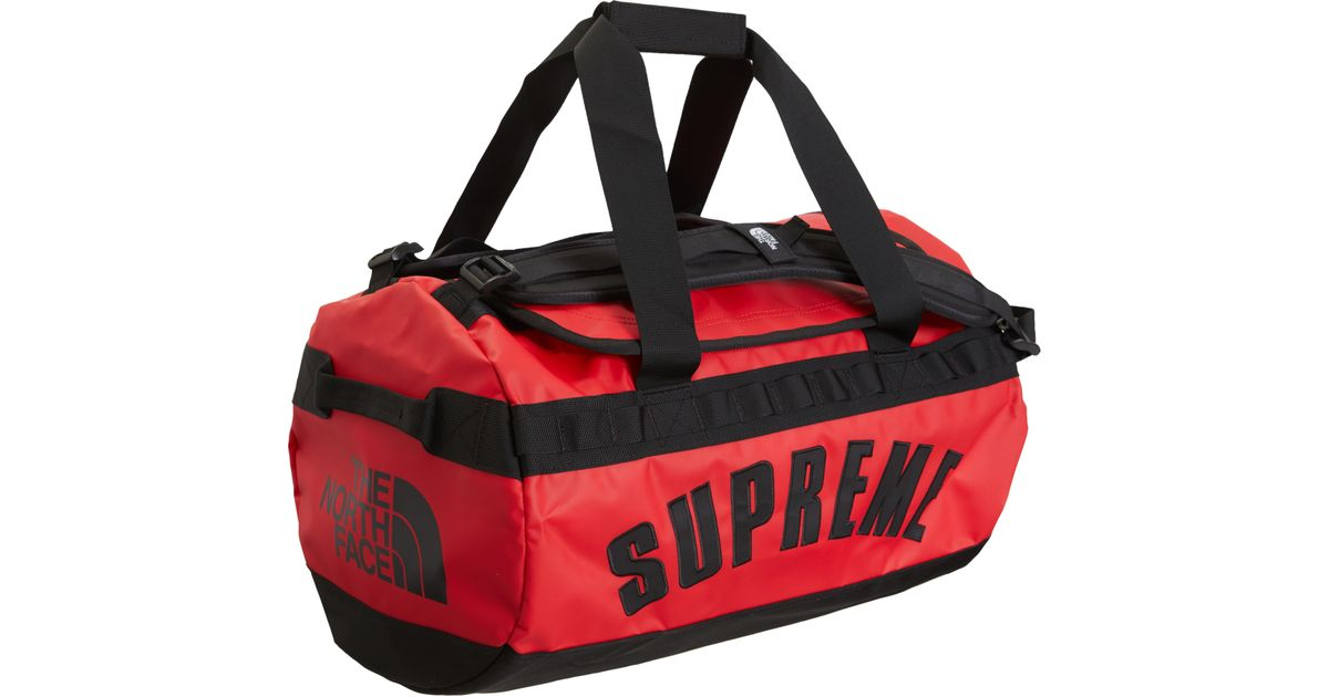 af1f0027c3d4 Lyst - Supreme The North Face Arc Logo Small Base Camp Duffle Bag Red in Red  for Men