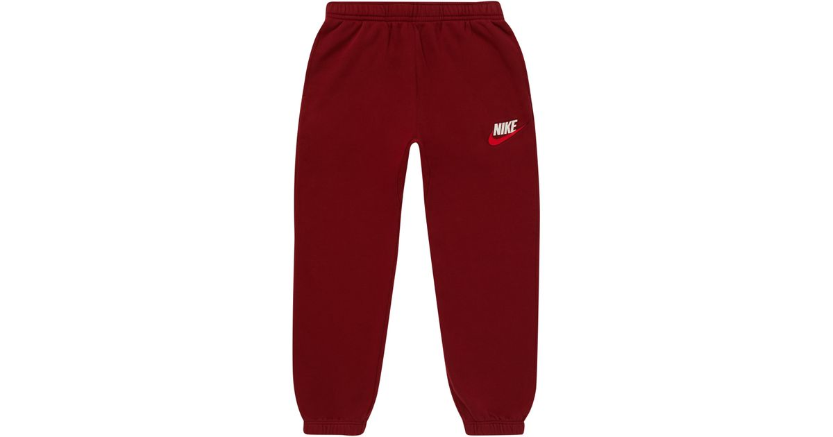 82352a3f Supreme Nike Sweatpant Burgundy in Red for Men - Lyst