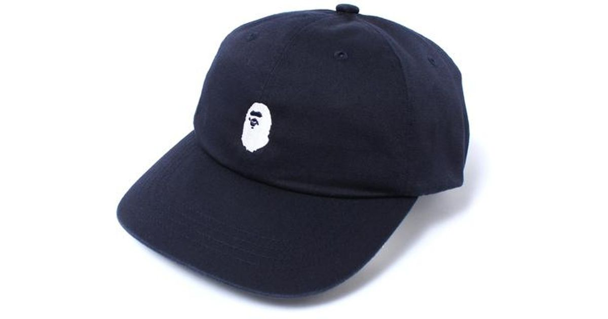 5787db5d051 Lyst - A Bathing Ape Ape Head Embroidery Panel Cap Navy white in Blue for  Men