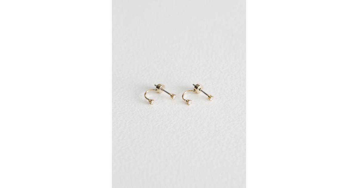 57adb606b & Other Stories Drop Back Earrings in Metallic - Lyst
