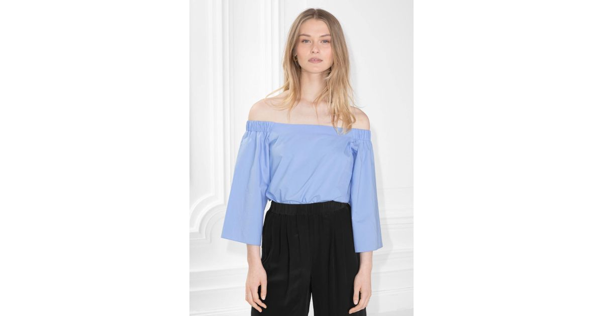e48c79a19e0f0 Lyst -   Other Stories Off Shoulder Blouse in Blue