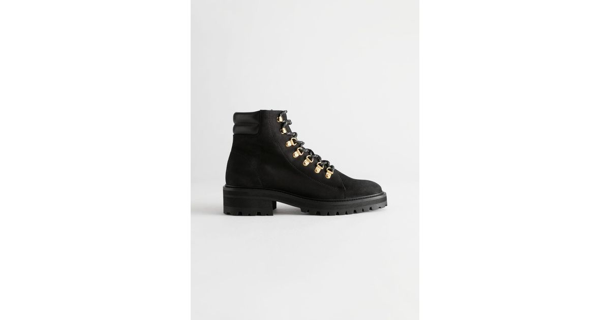 Other Stories Chunky Suede Hiking Boots