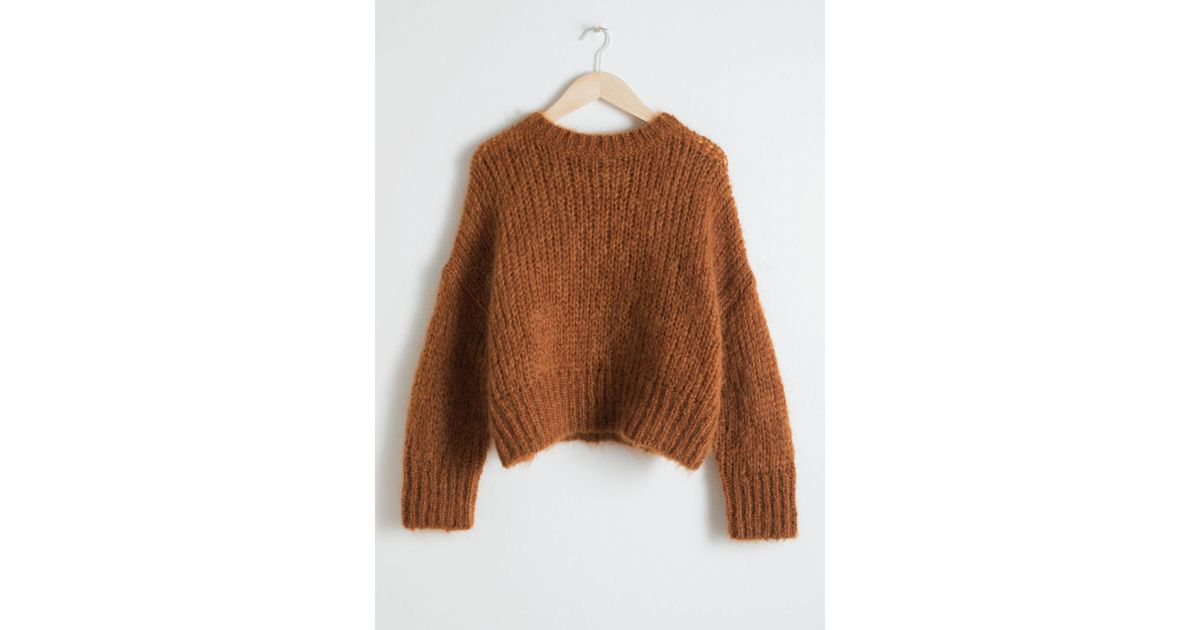 1749565b215c5e & Other Stories Wool Blend Chunky Knit Sweater in Orange - Lyst