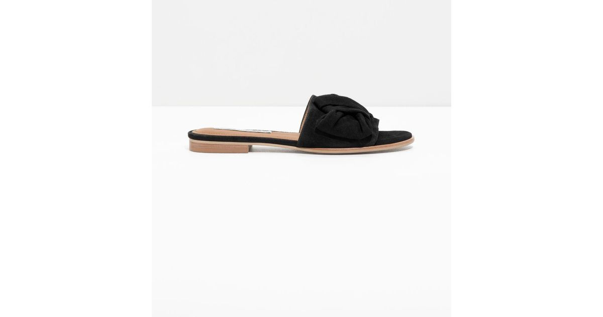 & OTHER STORIES Knotted Suede Slip Ons 4XczR19Saw