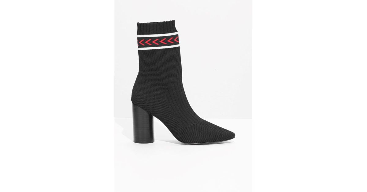 59a26083dfae Other Stories Ankle Panel Sock Boots In Black Lyst