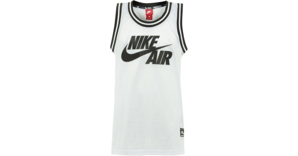 new arrival b6ea2 eb4cc Nike Air Logo White Basketball Jersey for men