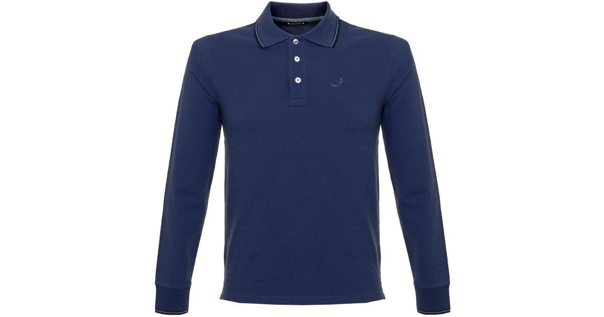 Jacob cohen j494 cobalt blue polo shirt in blue for men lyst for Cobalt blue polo shirt