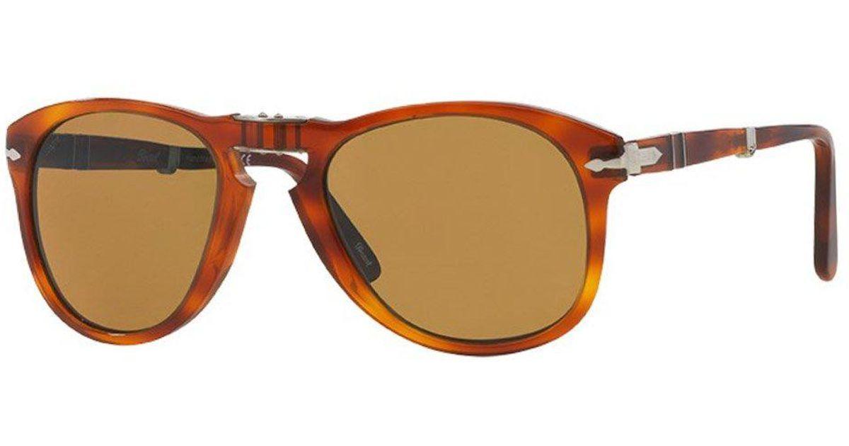 068f900e38 Persol 714 Foldable Brown Sunglasses 0po0714 52  in Brown for Men - Lyst