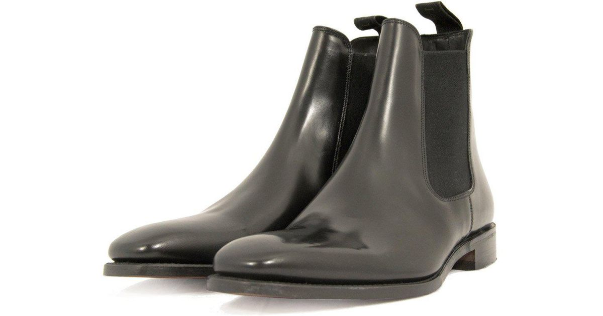 bb090e578fe Loake Mitchum Black Leather Chelsea Boot for men
