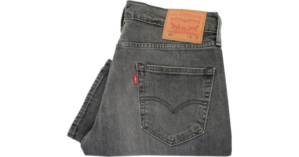 051c476569d Lyst Levi S Levis 511 Grey Slim Fit Denim Jeans In Gray For Men