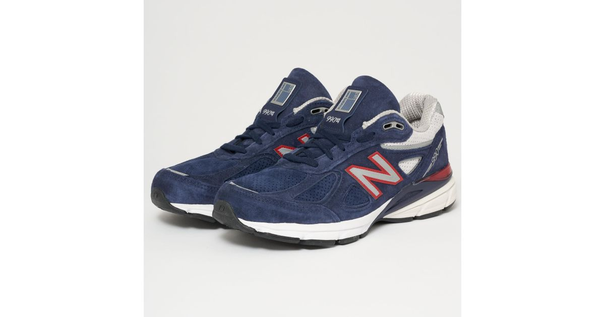 pretty nice 134d3 b1627 New Balance Blue 990v4 Made In Us - Pigment & Red