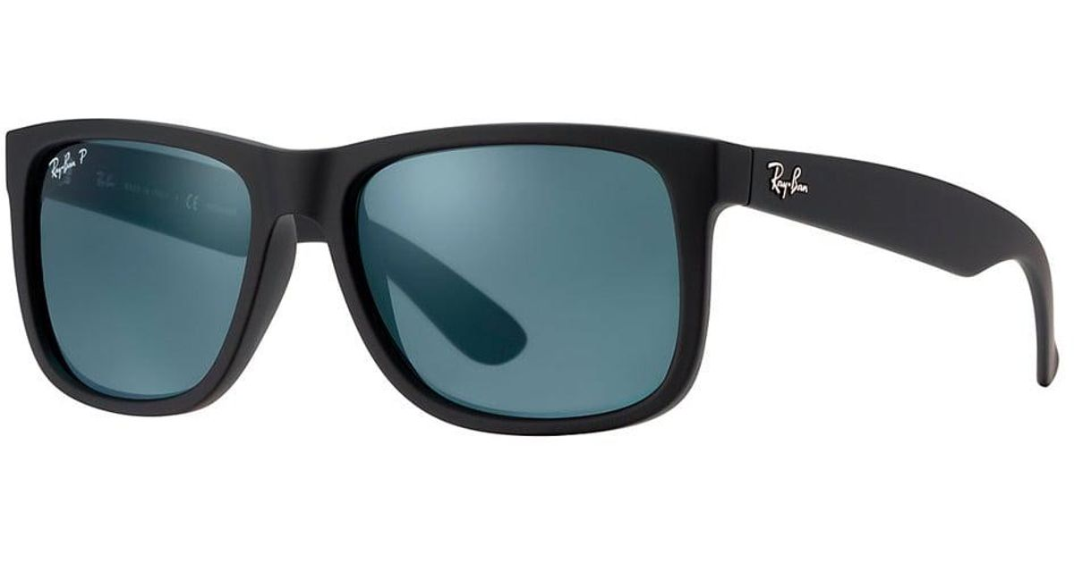 97787a5432 Lyst - Ray-Ban Black Justin Classic Sunglasses - Polarised Blue Classic  Lenses in Black for Men