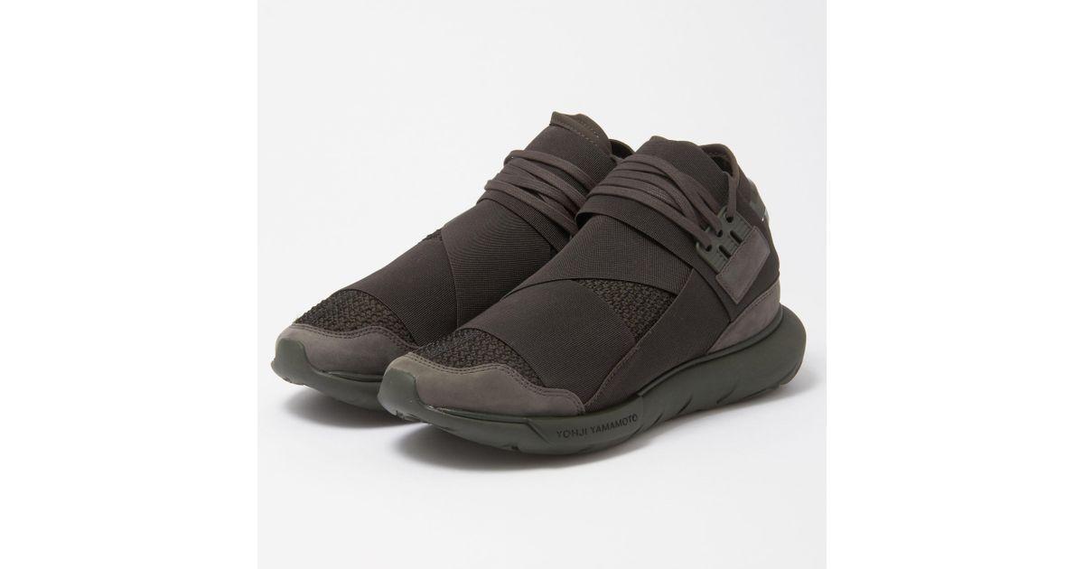2b45e73564b28 Lyst - Y-3 Qasa High Black Olive Sneakers in Black for Men