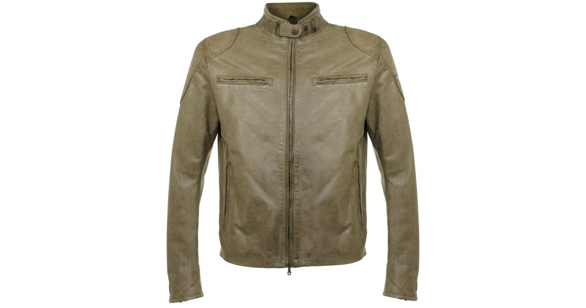 5a86e9ec9 Matchless Osborne Vent Classic Green Leather Jacket for men