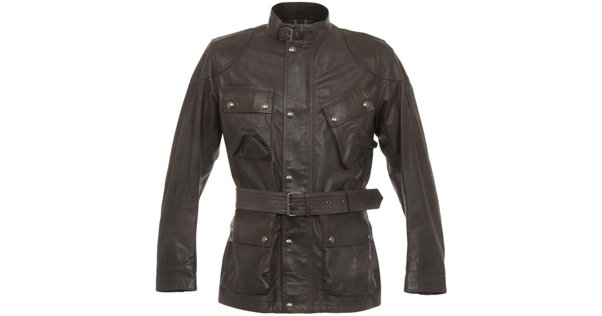 7e5ae6648 Belstaff Multicolor Panther Leather Anthracite Jacket for men