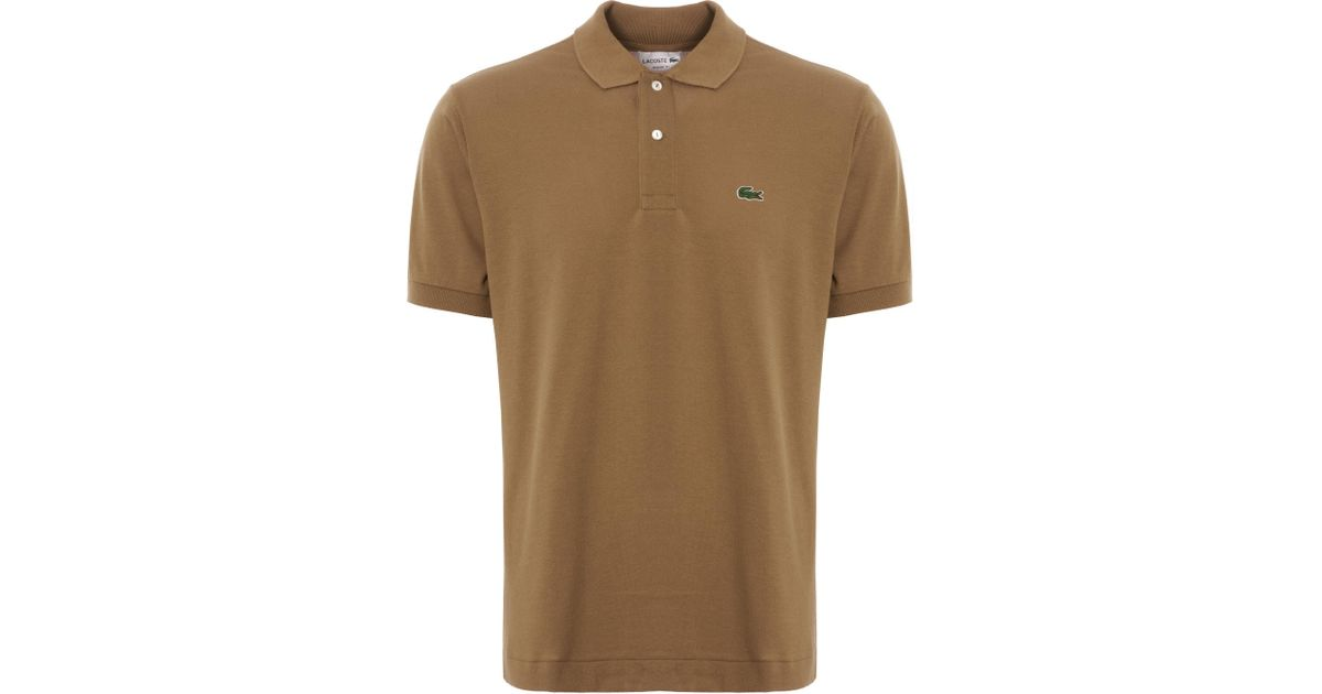 Polo Kraft 12 Shirt Brown Men Lacoste 12 Dark For L Qsrtdh