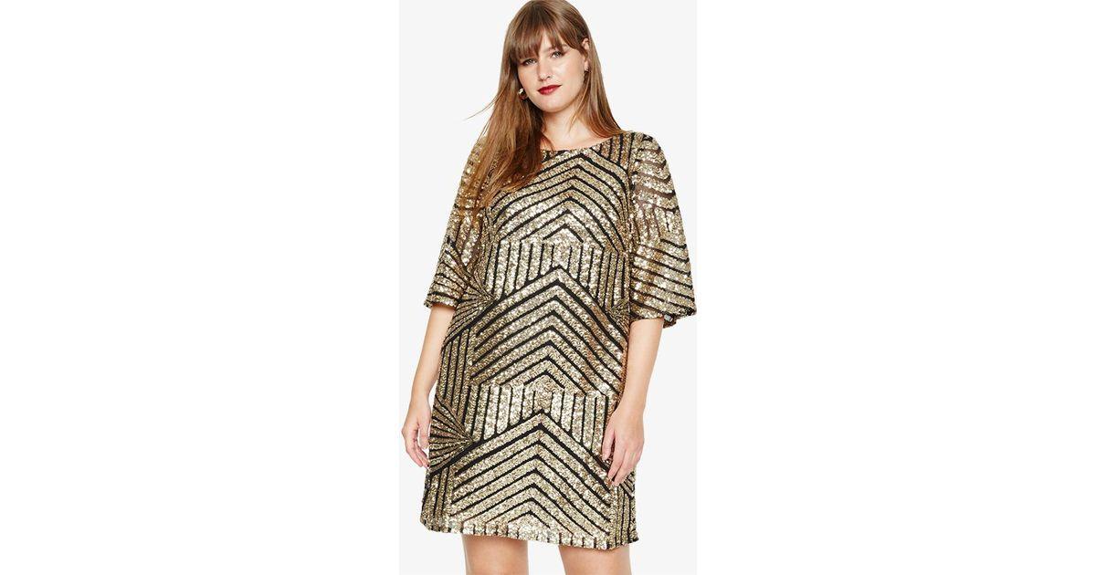 dd8a9c70bb Studio 8 Gillian Sequin Tunic Dress in Metallic - Lyst
