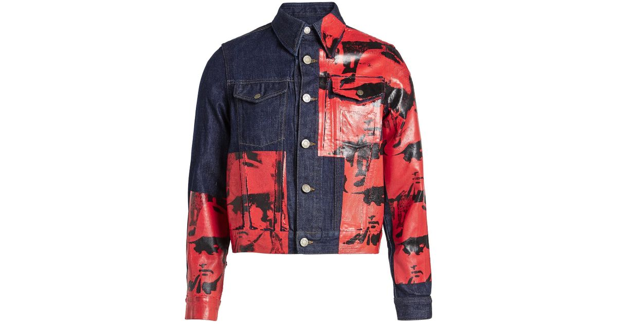 f0bedca88 CALVIN KLEIN 205W39NYC Blue X Andy Warhol Denim Jacket