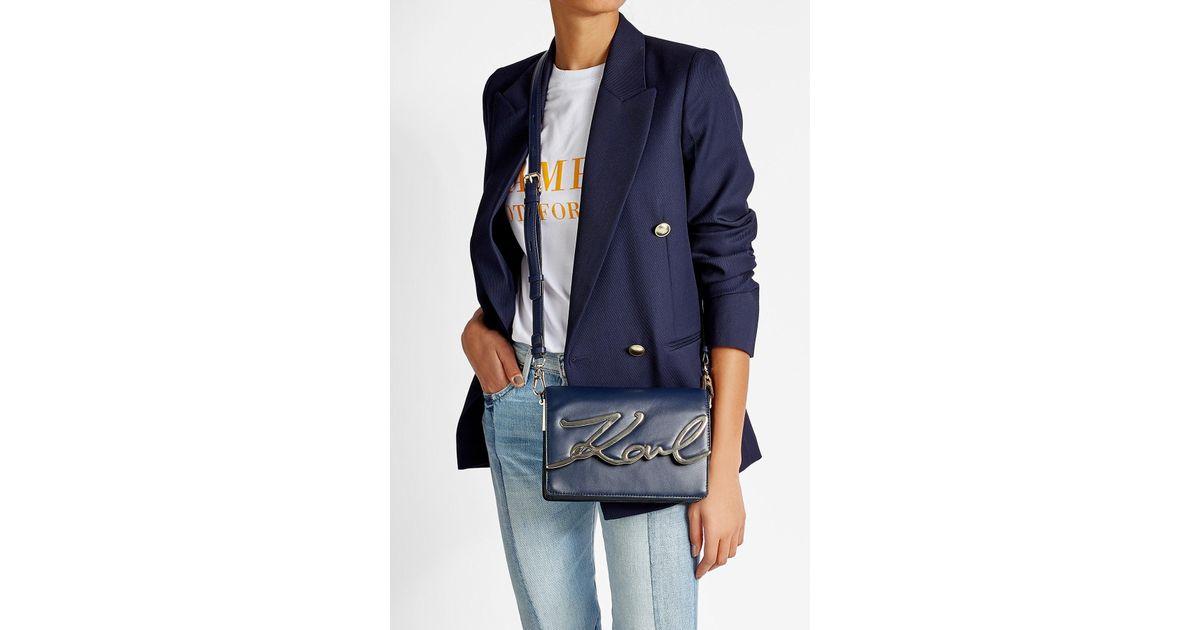e749dba2f1 Lyst - Karl Lagerfeld X Stylebop.com K signature Shoulder Bag In Midnight  Blue in Blue