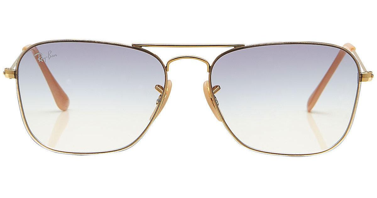 615cfde840072 Lyst - Ray-Ban Rb3603 Aviator Sunglasses in Metallic