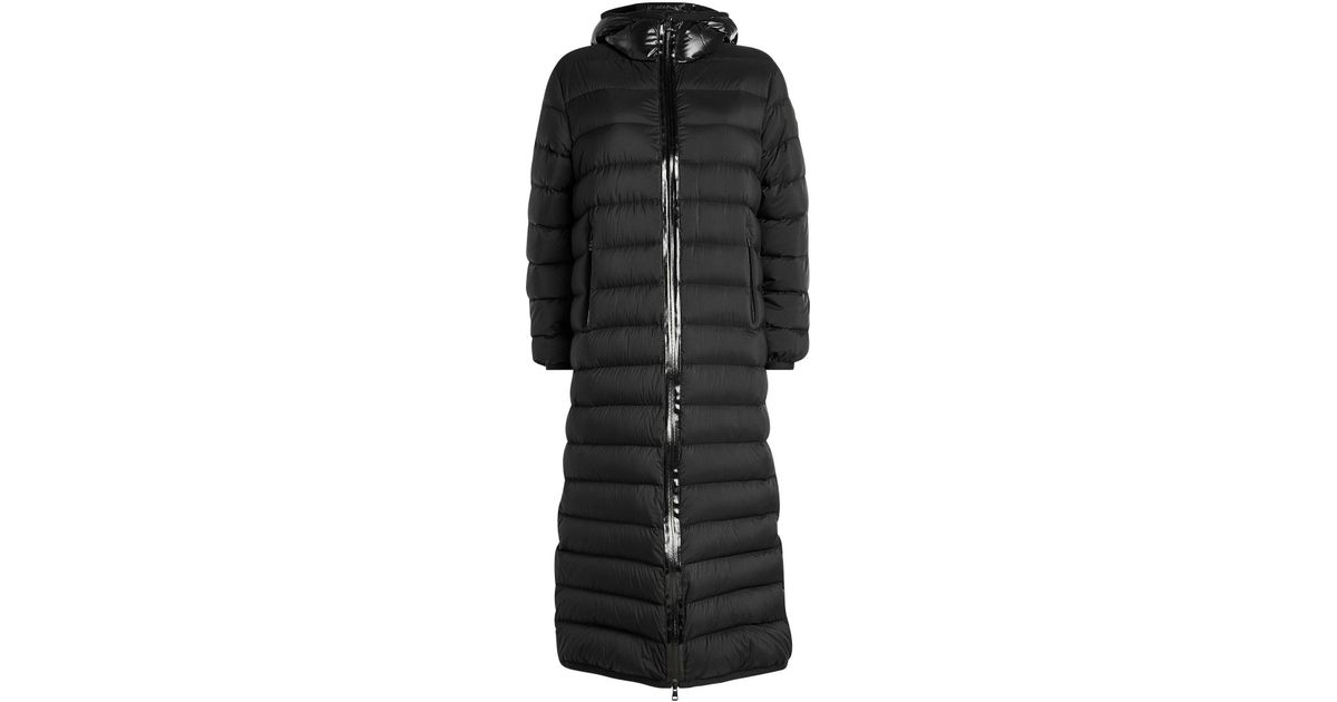 Moncler Black Grue Quilted Shell Coat