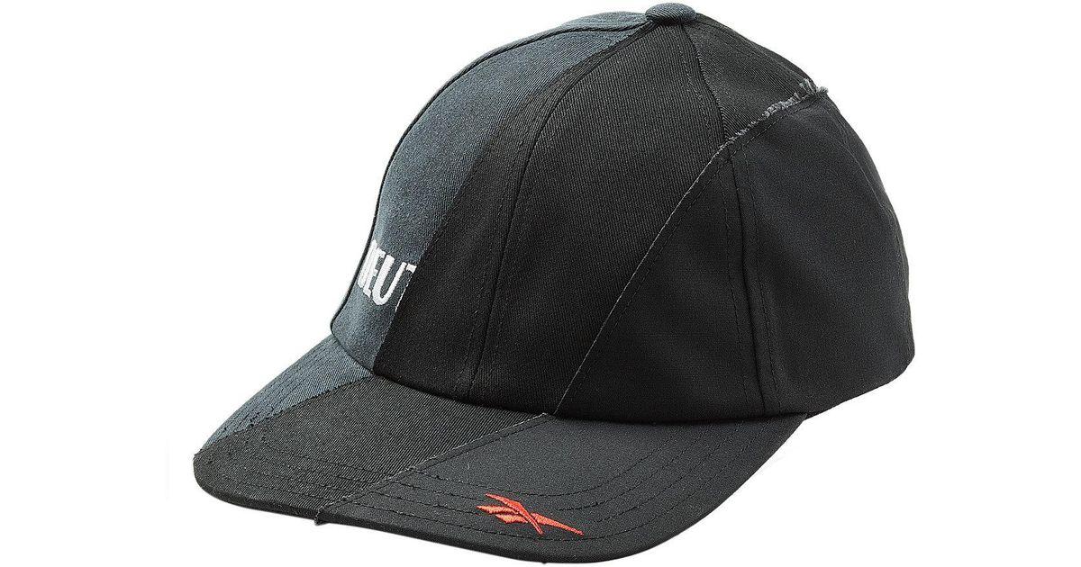 73694fb01c0 Lyst - Vetements X Reebok Reworked Baseball Cap in Black for Men