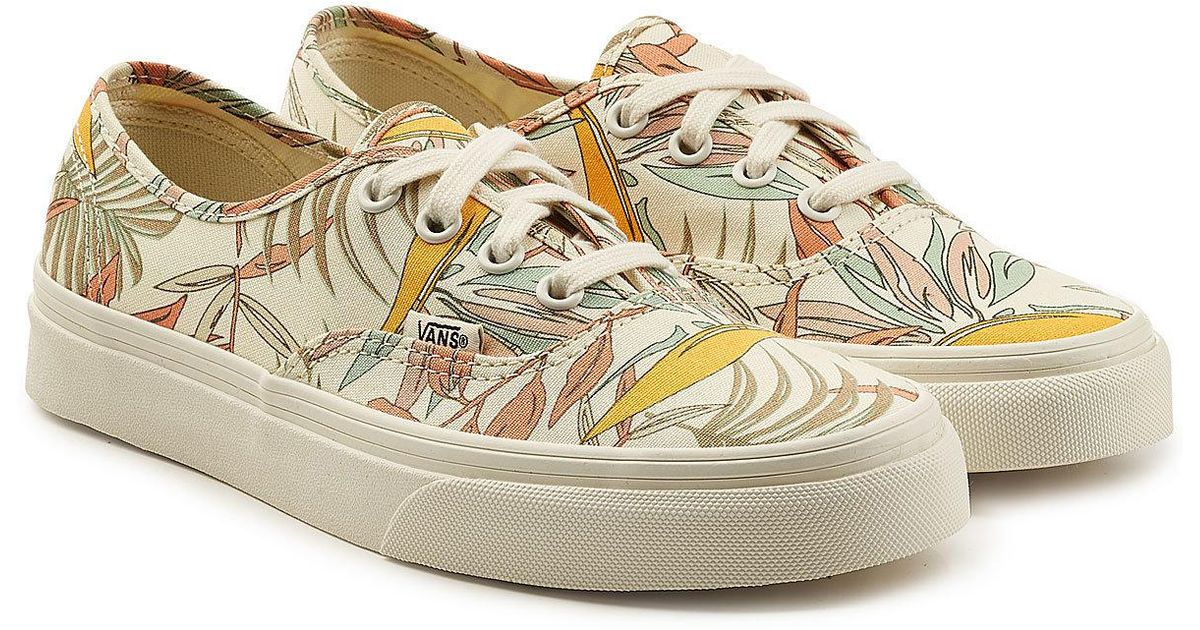 200a6f8acf Lyst - Vans Authentic Printed Sneakers