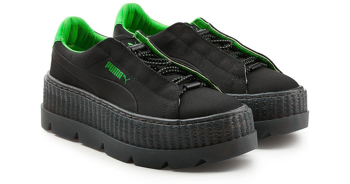 online store 3f0c7 3eb9c PUMA - Black Cleated Creeper Surf Sneakers - Lyst