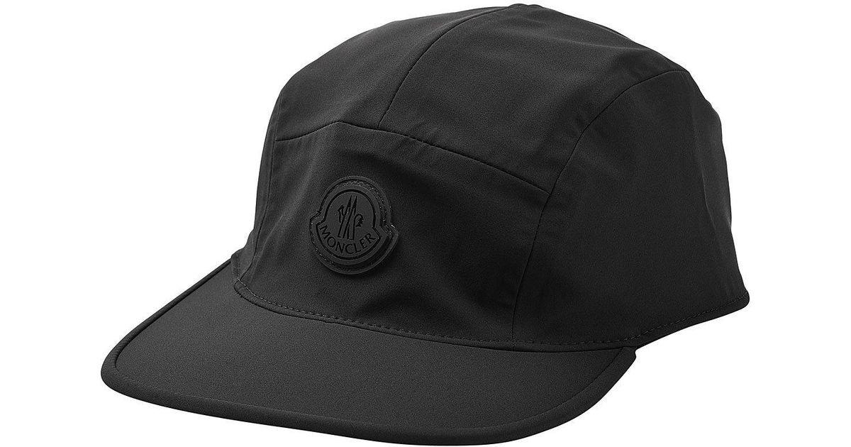 9110514cc60f Lyst - Casquette à logo Moncler pour homme en coloris Noir